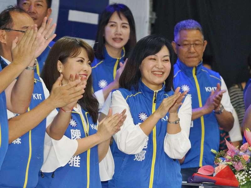 20190728-國民黨全代會,立委被提名人陳美雅、陳麗娜出席。(盧逸峰攝)
