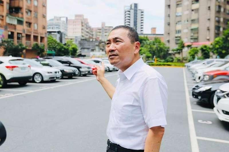 20190728-新北市長侯友宜前往建成路停車場視察。(取自侯友宜臉書)