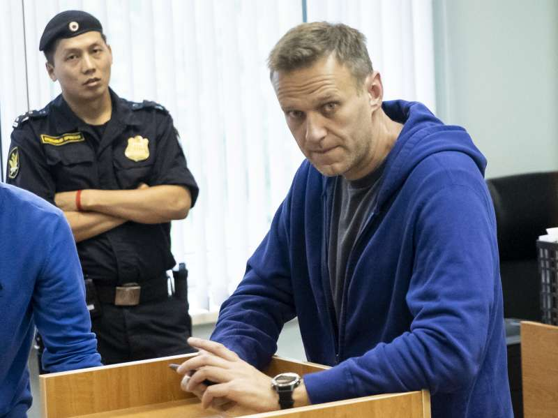 2019年7月24日,俄羅斯反對派被捕入獄,28日因為出現「嚴重過敏」反應遭送醫治療。(AP)