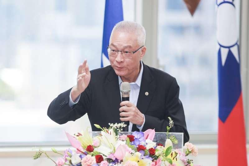 20190729-國民黨主席吳敦義29日出席國民黨中央評議委員會。(簡必丞攝)