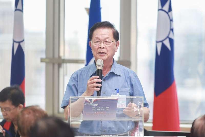 20190729-國民黨中央評議委員趙守博29日出席國民黨中央評議委員會。(簡必丞攝)。