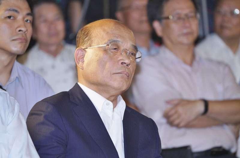 20190730-行政院長蘇貞昌出席三重商工地下停車場啟用典禮。(盧逸峰攝)