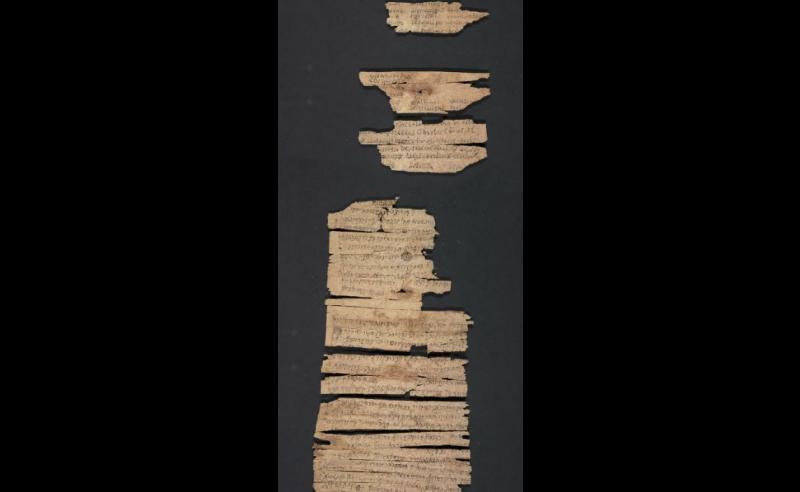 美國國會圖書館日前公開2千年前犍陀羅國的佛教手抄本卷軸(取自Library of Congress)