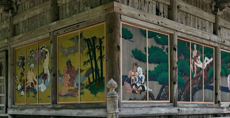 越後國上寺的「帥哥官能繪卷」。(國上寺臉書)