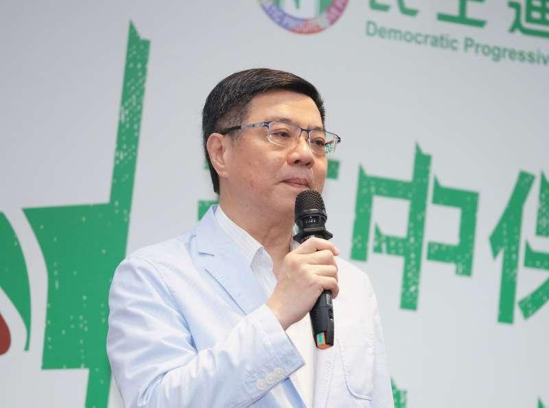 20190805-民進黨與基進黨聯合召開記者會,主席卓榮泰致詞。(盧逸峰攝)