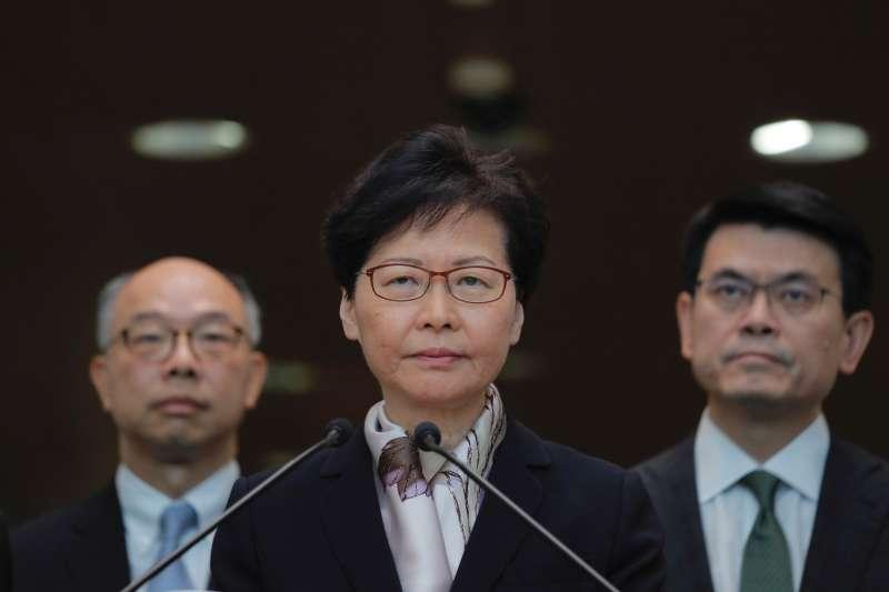 2019年8月5日香港三罷,特首林鄭月娥舉行記者會(AP)