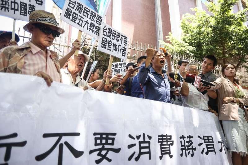20190806-台灣國主辦「柯文哲不要消費蔣渭水」記者會。(陳品佑攝)