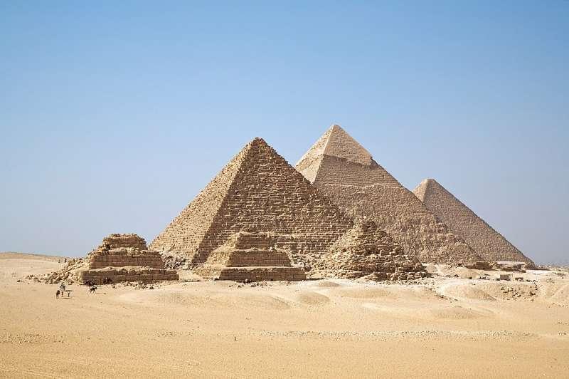 吉薩金字塔群。(圖片取自維基百科)