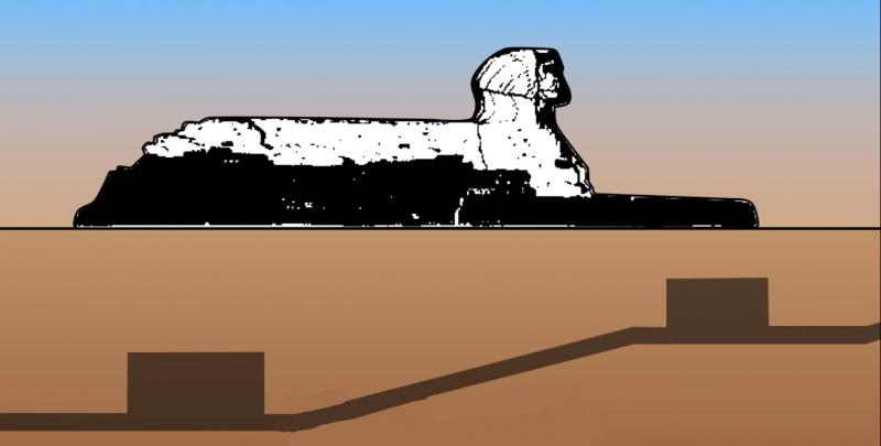 有一位日本大學的教授對這座石像進行電磁波掃描,結果竟然發現石像的正下方竟然有兩個巨大的密室。(圖片擷取自Youtube )