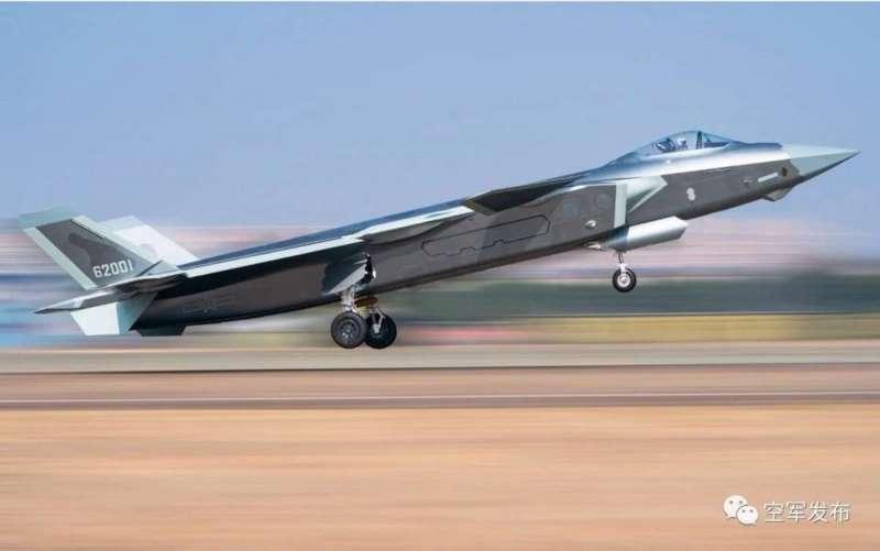「空軍發布」張貼的殲-20照片。(翻攝網路)