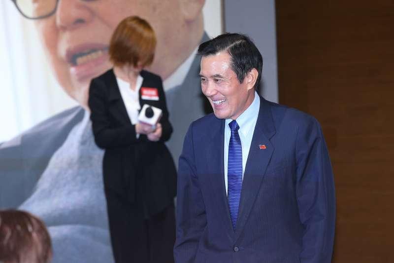 20190808-前總統馬英九8日出席「郝柏村回憶錄」新書發表會。(顏麟宇攝)