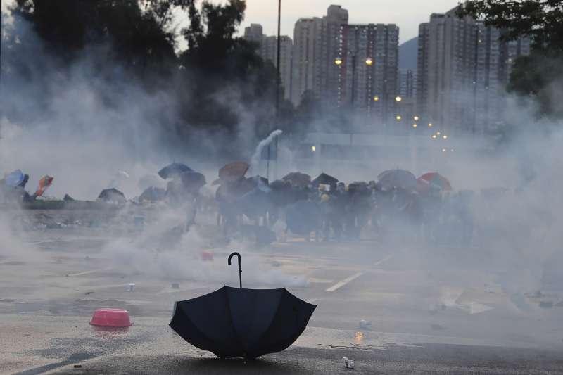 香港「反送中」示威行動持續延燒(美聯社)