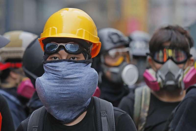 香港反送中示威越演越烈。(AP)