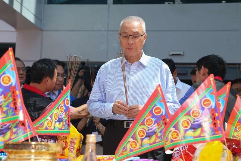 20190814-國民黨主席吳敦義14日出席黨部中元普渡儀式。(顏麟宇攝)