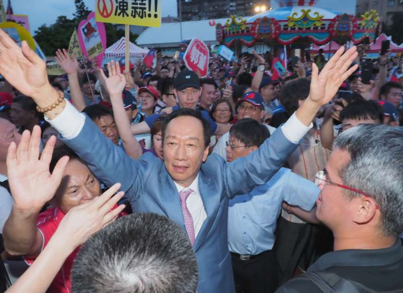 郭台銘雖有參選意願,但若選總統勝算不高,很可能會寧可棄選。(林瑞慶攝)