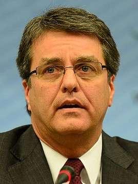20190814-巴西外交官、世界貿易組織(WTO)總幹事羅伯托·阿茲維多(Roberto Azevêdo)。(取自維基百科)