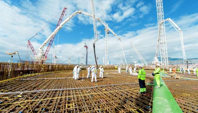 英國欣克利角C核電廠工地。(圖截自EDF官網)