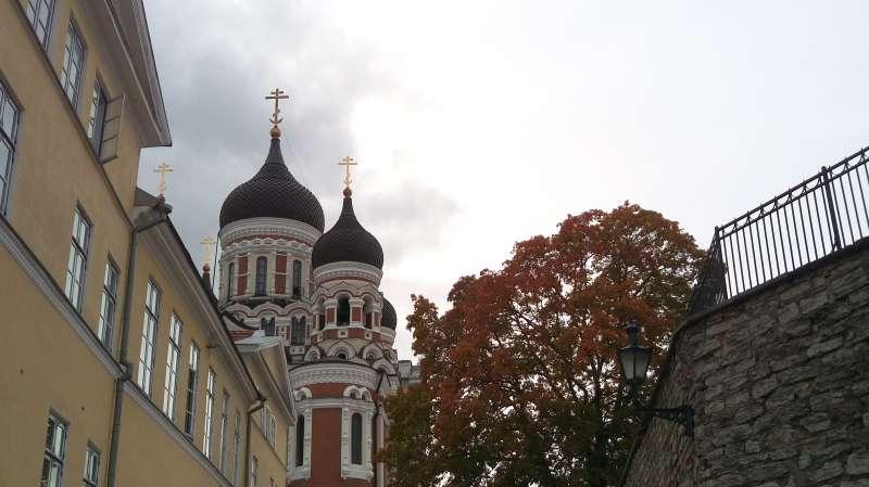 另一角度的亞歷山大涅夫斯基大教堂。(圖/謝幸吟提供)