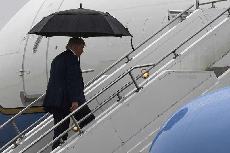 美國總統川普稱,中國先人到解決香港問題,再來考慮貿易談判。(AP)