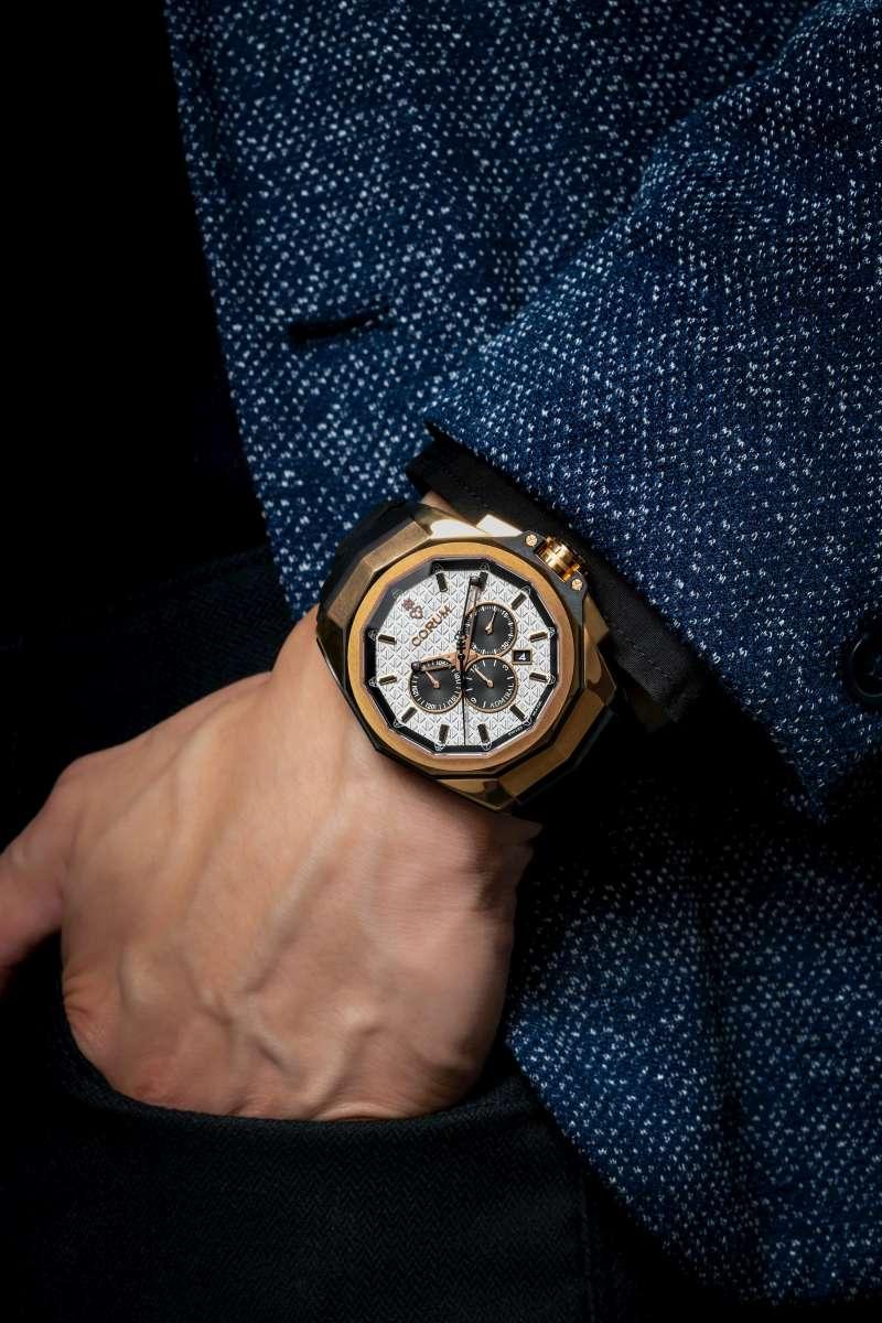 Admiral AC-ONE 45 CHRONOGRAPH 海軍上將系列計時碼錶_五級18K玫瑰金 45mm_NT$ 640,000(圖/崑崙錶 提供)