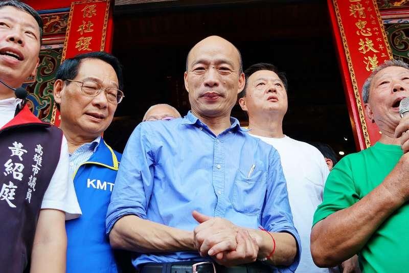 20190818-高雄市長韓國瑜參拜新竹關帝廟。(盧逸峰攝)