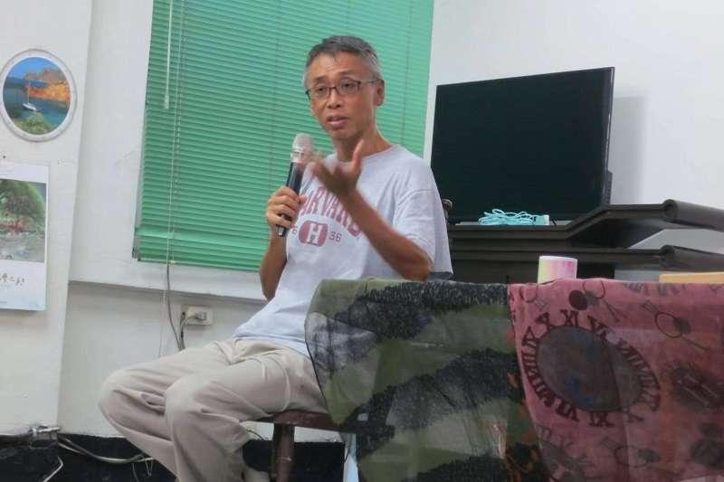 台大教授石之瑜談香港。(愛思左人文基地提供)