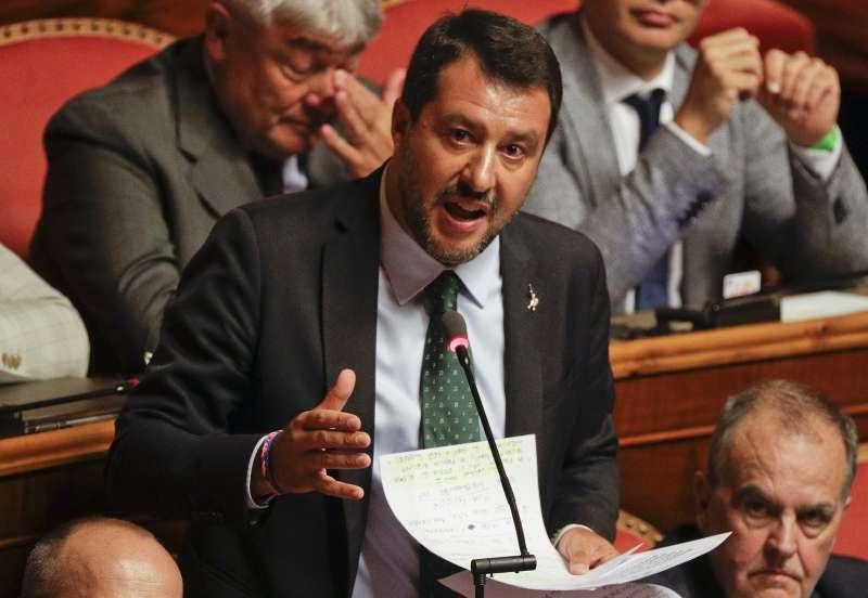 義大利聯盟黨領導人、副總理兼內政部長薩爾維尼(Matteo Salvini)(AP)