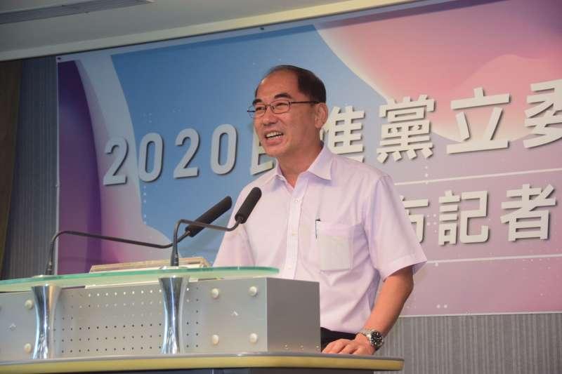 20190821-南投水里鄉長陳癸佑出席2020民進黨立委徵召提名公布記者會。(吳俊廷攝)