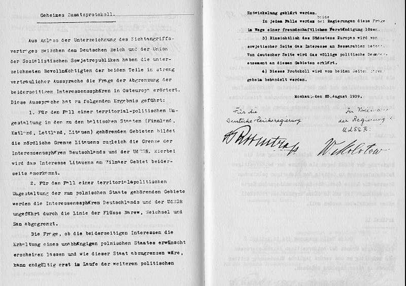 《德蘇互不侵犯條約》(Wikipedia / Public Domain)