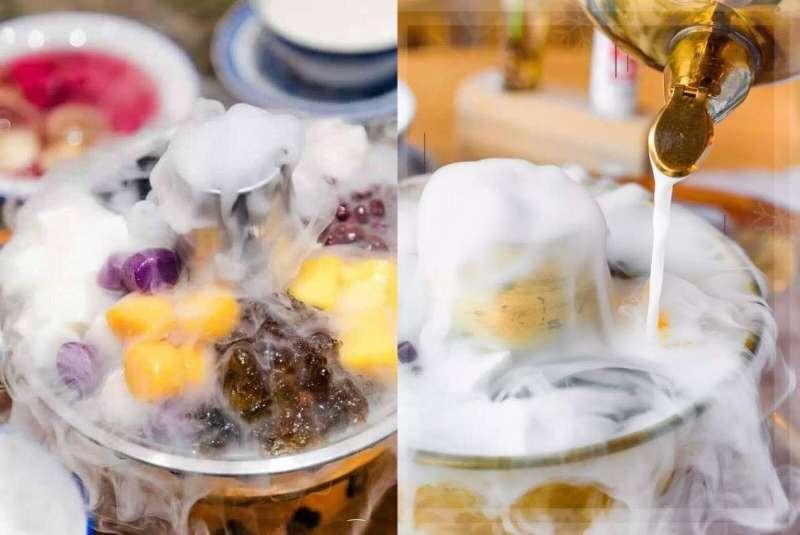 喜歡喝冰奶茶的,可以選擇加入乾冰的奶茶火鍋,不僅視覺上仙氣繚繞,溫度也能維持冰爽。(圖/wouldyoumagazine)
