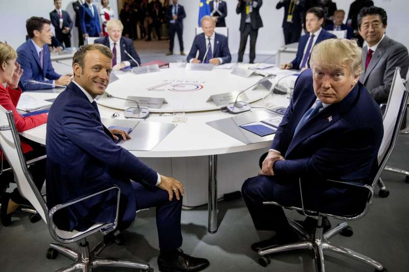 2019年8月25日,各國領袖齊聚北法度假勝地比亞里茨舉行七國集團(G7)高峰會。(AP)