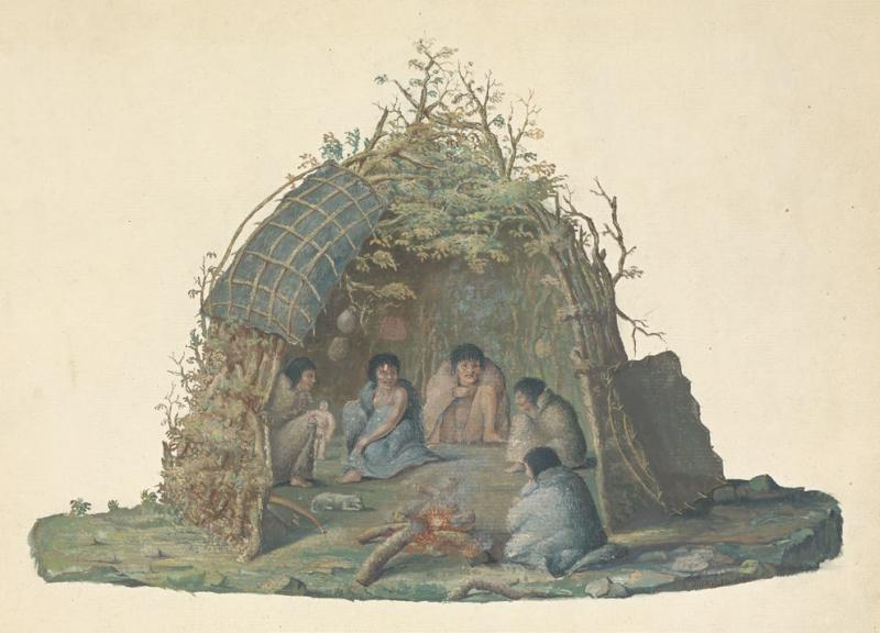 火地群島的小屋居民。(左岸文化提供)