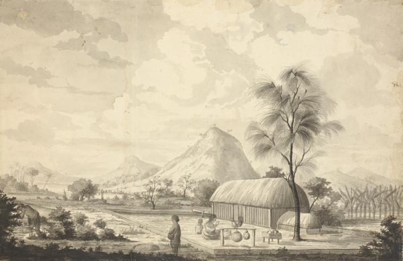 歐塔海特島(大溪地)酋長的房屋與種植園。(左岸文化提供)