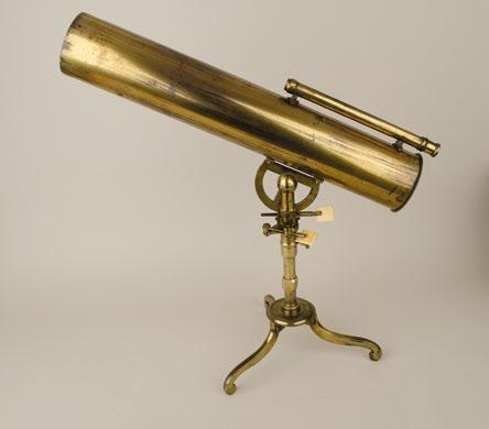 格里反射望遠鏡,詹姆斯.肖特製作,製作年代大約是1758年,這個望遠鏡與庫克一行人觀測金星凌日的望遠鏡類似。(左岸文化提供)
