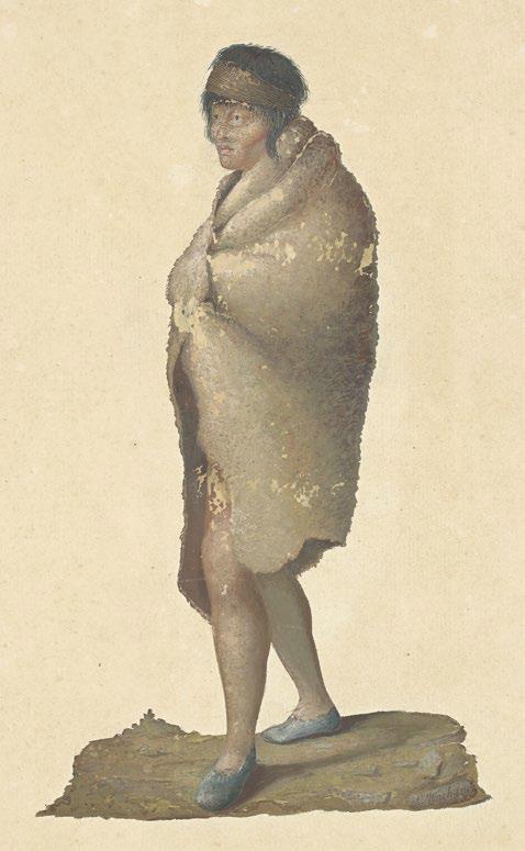 火地群島的男子。(左岸文化提供)