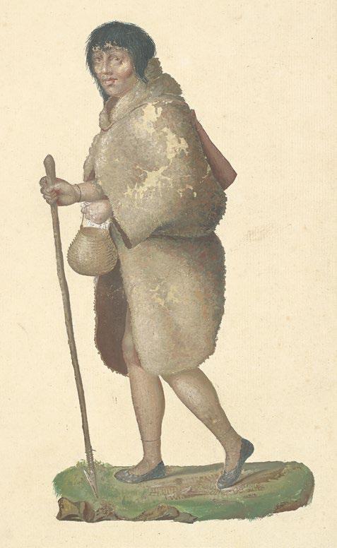 火地群島的女子。(左岸文化提供)