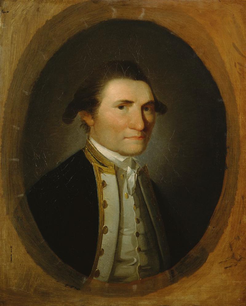 詹姆斯.庫克的帆布肖像油畫。(左岸文化提供)