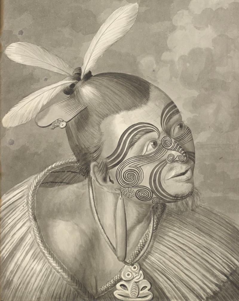 一名紐西蘭男子的肖像。(左岸文化提供)