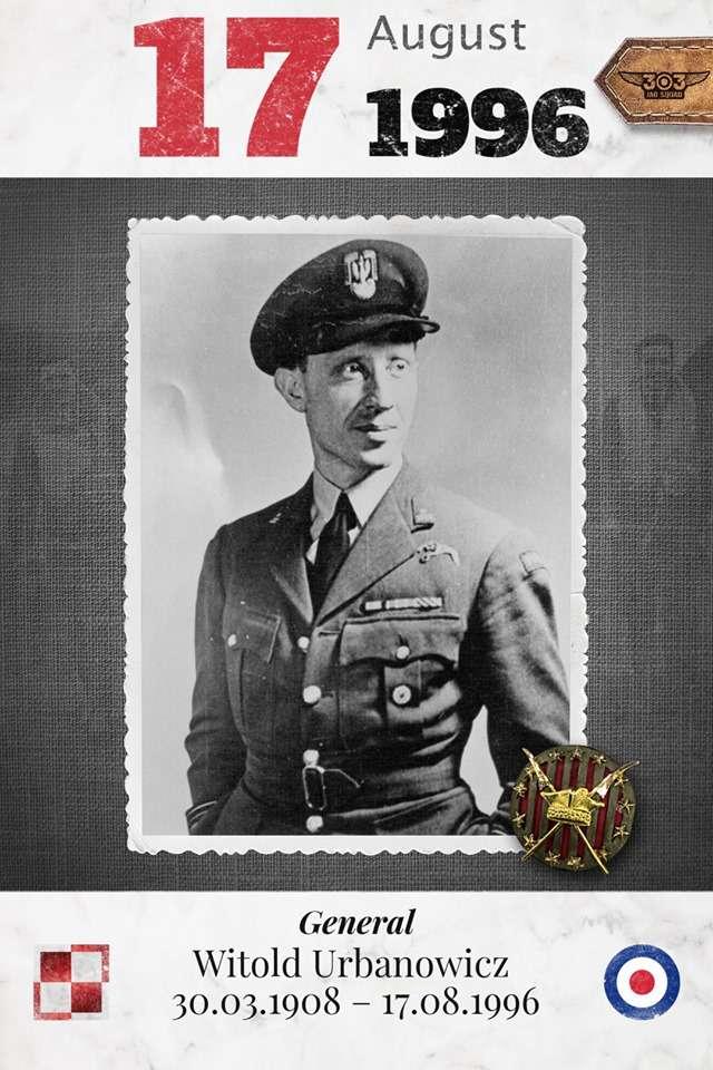 烏班諾維在不列顛空戰期間擊落15架半的敵機,是303中隊的中隊長,也是身經百戰的波蘭空戰英雄。(許劍虹提供)