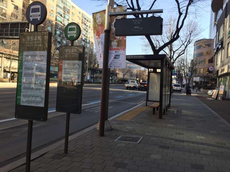 韓國的公車十分方便,不論在首爾市內移動還是要去別的城市都可以到(圖/蔡佳妘攝)