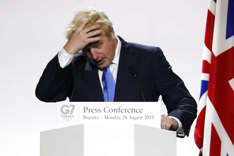 英國首相強生。(AP)
