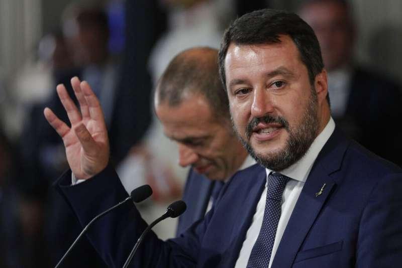 義大利聯盟黨領導人、副總理兼內政部長薩爾維尼。(AP)