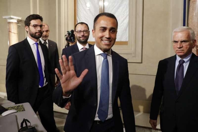 義大利五星運動黨魁迪馬奧(Luigi Di Maio)。(AP)