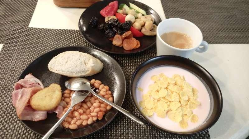 飯店早餐。(圖/謝幸吟提供)