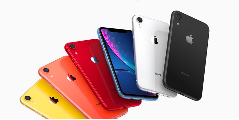 iPhone XR系列曾推出多款顏色選擇。(翻攝 蘋果官網)