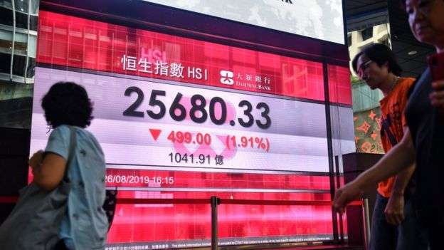 有香港銀行預測,今天經濟增長可能是0%。(BBC中文網)