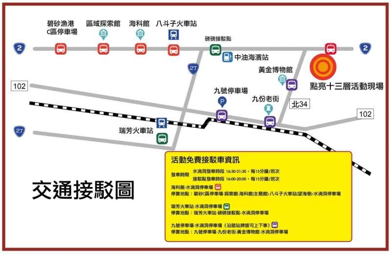 交通接駁圖(圖/台電 提供)