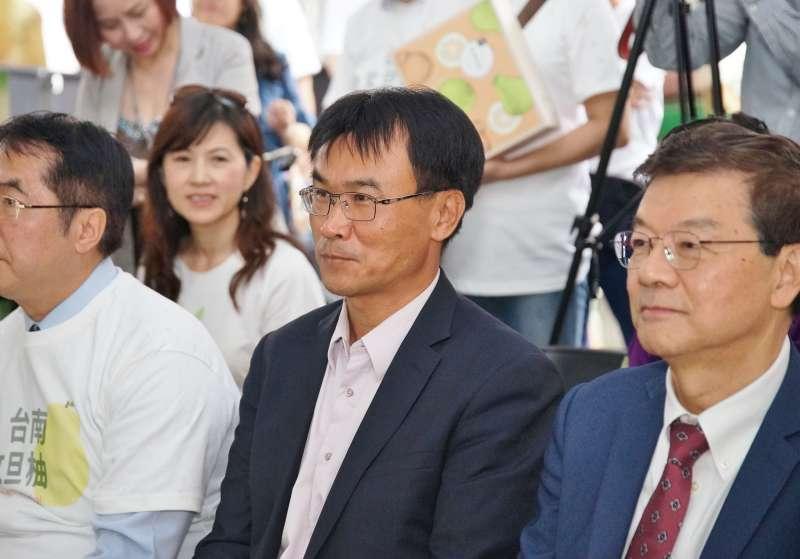 20190905-農委會主委陳吉仲出席台南文旦行銷活動。(盧逸峰攝)
