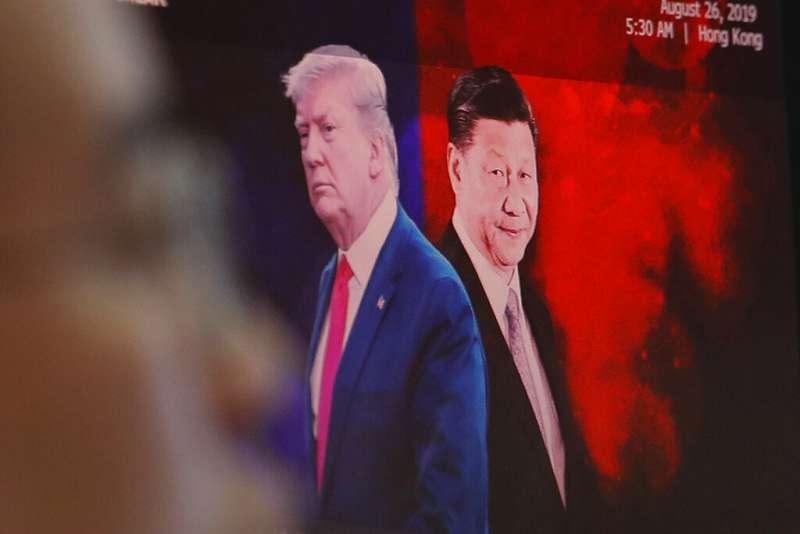 中美貿易戰,川普與習近平。(美聯社)