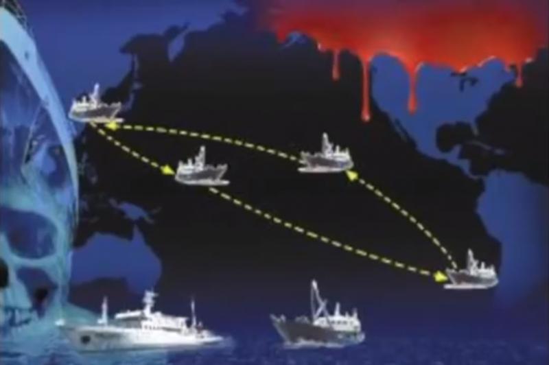魯榮漁2682號原訂航線圖。(圖片擷取自Youtube)